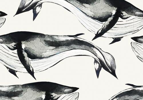 De Stoffenkamer Tricot Digital Whales
