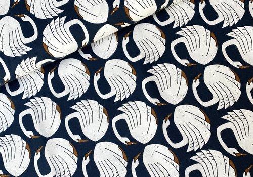 Cotton + Steel Canvas - Loving Swans