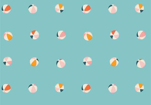 Art Gallery Cotton Sunburst - Beach Balls