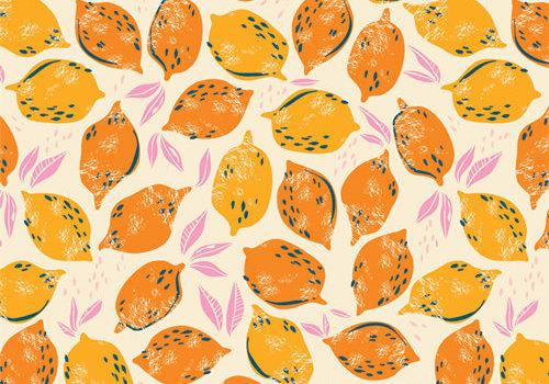 Art Gallery Cotton Sunburst - Mango Lemonade
