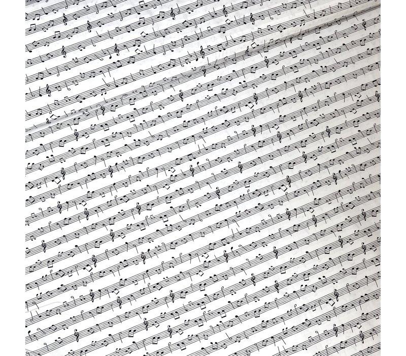 Cotton - Music Notes Black & White