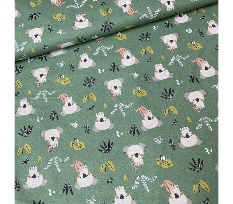 Cotton - Koala Bunch Soft Green