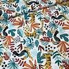 De Stoffenkamer Cotton - Bright Tiger Jungle white