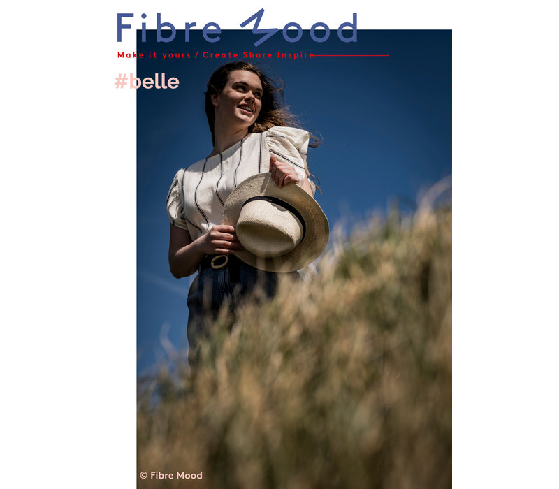Double Gauze Tetra Black Stripes - Viola / Belle