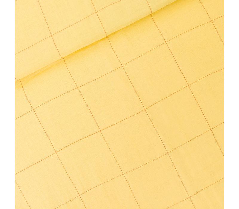 SYAS Double Gauze Thin Grid Popcorn