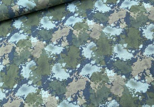 De Stoffenkamer Tricot Camouflage