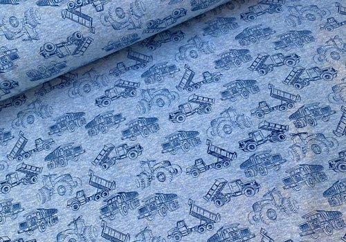 Soft Touch Sweater - Blue melange Tractors