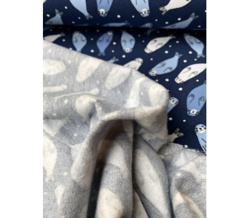 Soft Touch Sweater - Blue Seals