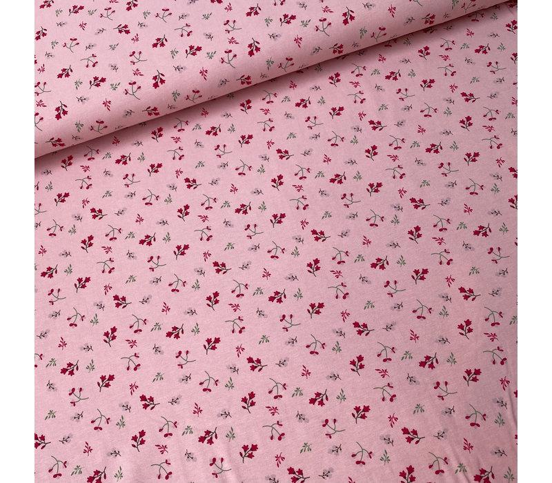 Tricot pink mini flowers
