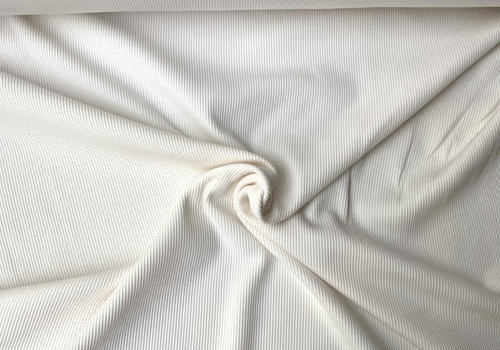 Ribbed tricot - basic off white