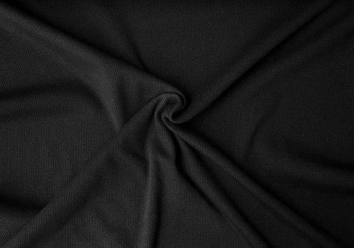 Ribbed tricot - basic black
