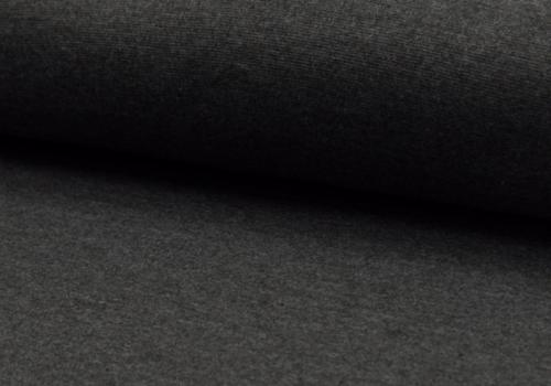 De Stoffenkamer Boordstof 75cm Dark grey melange