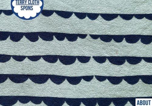 About Blue Fabrics Spons - Dotty Stripes