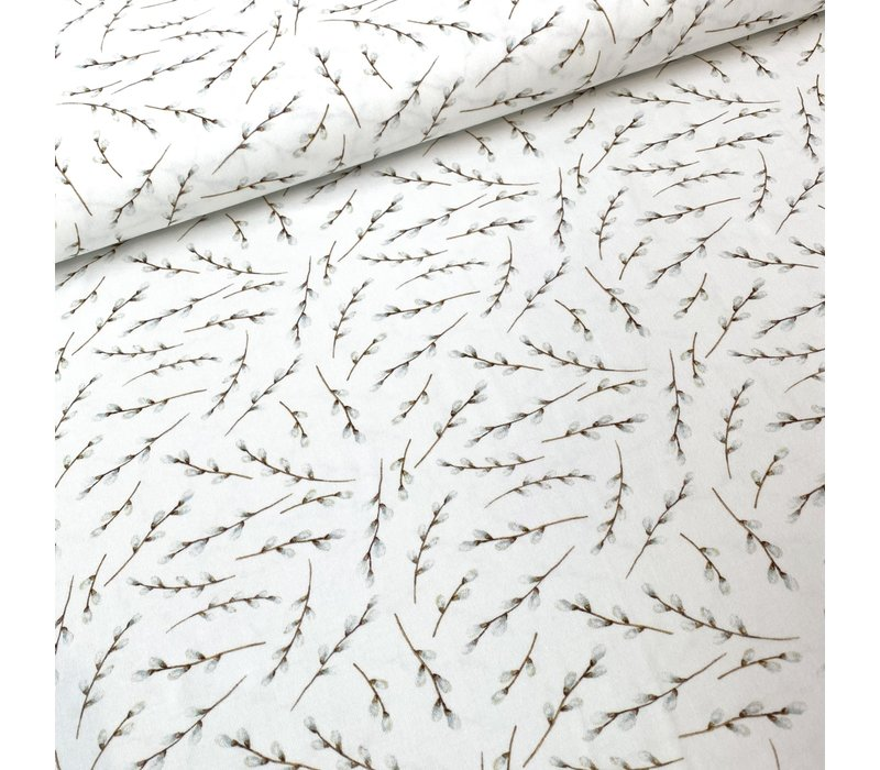 Tricot Off White spring branches