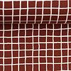 Lillestoff French Terry Mini Grid - Rust