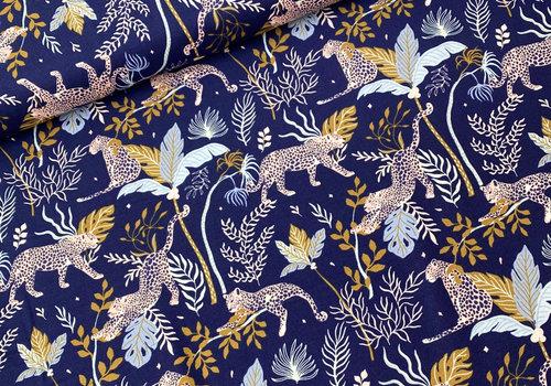 RJR Fabrics Cotton Serengeti - Intense Blue Cheetah