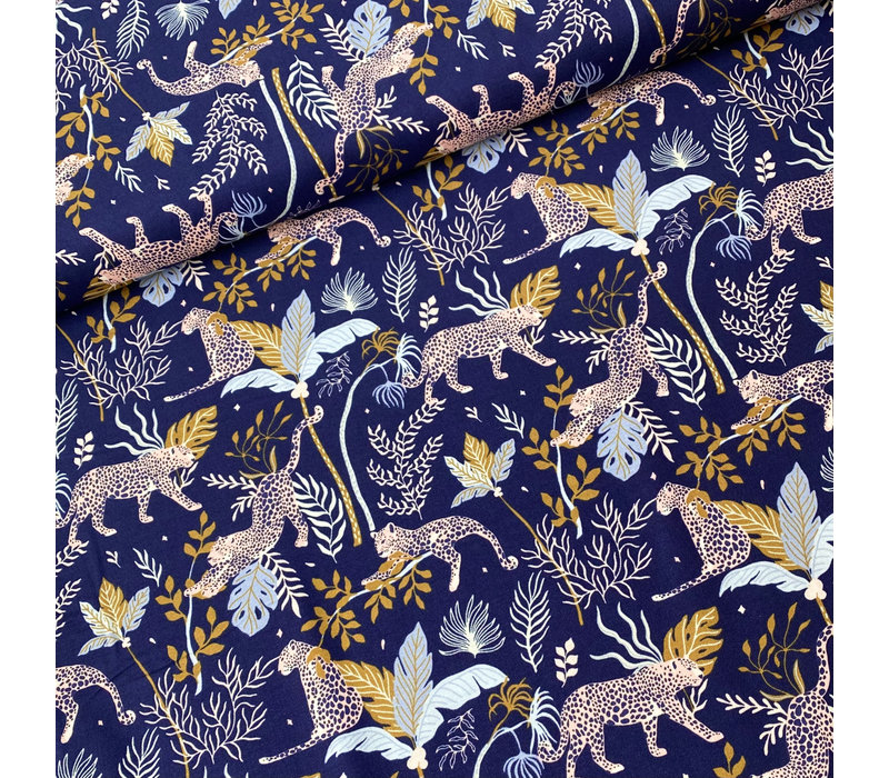 Cotton Serengeti - Intense Blue Cheetah