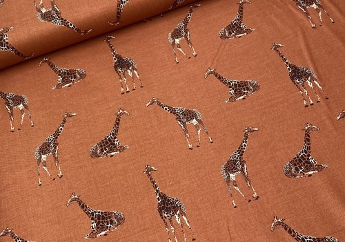 RJR Fabrics Cotton Serengeti - Terra Giraffe
