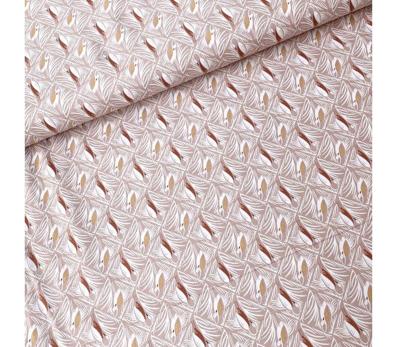 Cotton Pondlife - Old pink Storcks