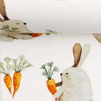 Tricot Off White Rabbit Picnic