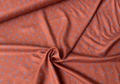 Editex Blouse Viscose Rusty Mini Feathers