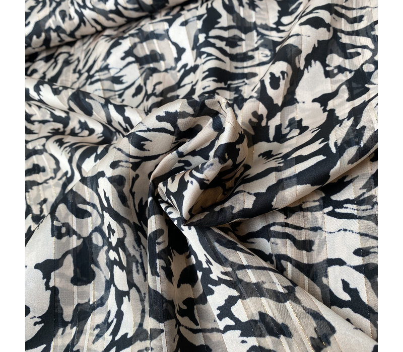 Blouse Gold Stripe Camouflage