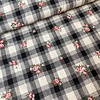 De Stoffenkamer Cotton Checks with Embroidery  Flowers
