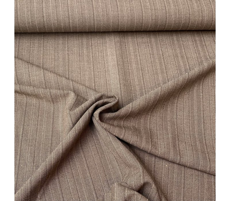 Pantalon Gabardine Heringbone Beige Brown