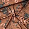 De Stoffenkamer Blouse Viscose Dark Caramel Flowers