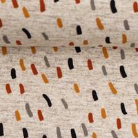 French Terry Grey Melange Confetti