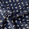 De Stoffenkamer Babyrib velvet dark blue mini daisies