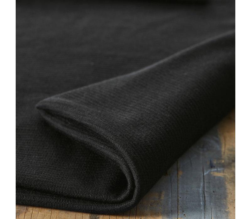 Organic Woolen Ottoman - Black