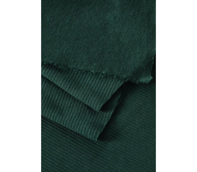 Organic Woolen Ottoman - Bottle Green