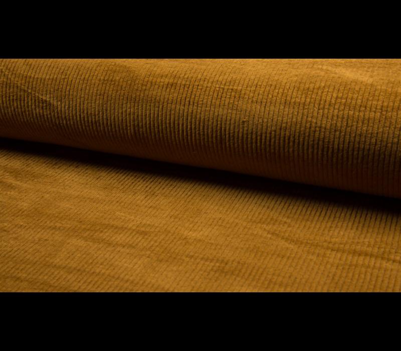 Corduroy brede ribfluweel - ocre