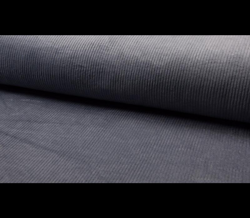 Corduroy brede ribfluweel - dusty blue