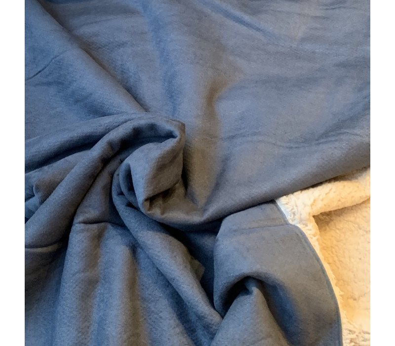 Double Face Suede Teddy Blue