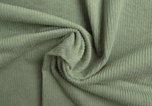 De Stoffenkamer Corduroy brede ribfluweel - Dusty mint