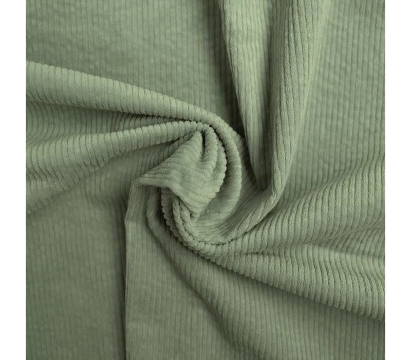 Corduroy brede ribfluweel - Dusty mint