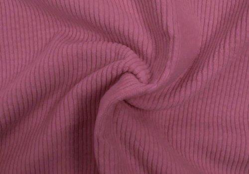 De Stoffenkamer Corduroy brede ribfluweel - Lavendel Roze