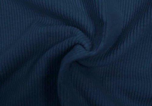 De Stoffenkamer Corduroy brede ribfluweel - Denimblue