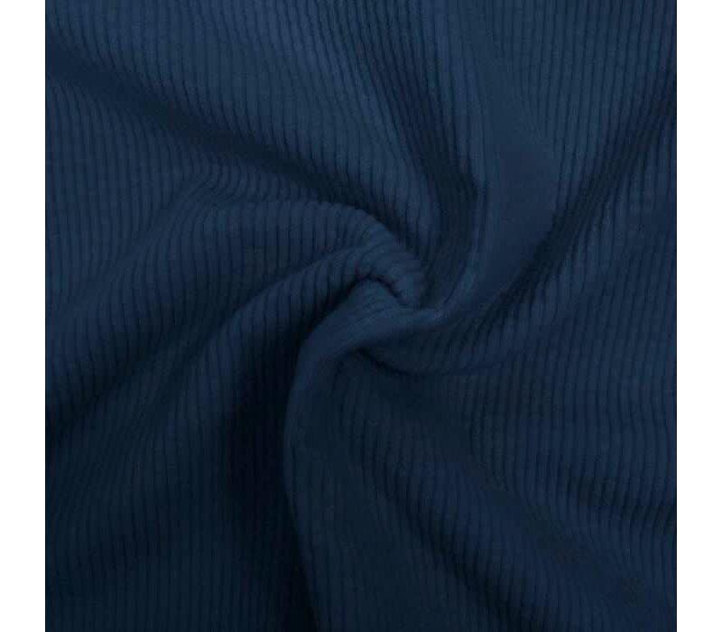 Corduroy brede ribfluweel - Denimblue