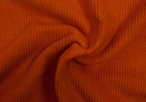 De Stoffenkamer Corduroy brede ribfluweel - dusty orange