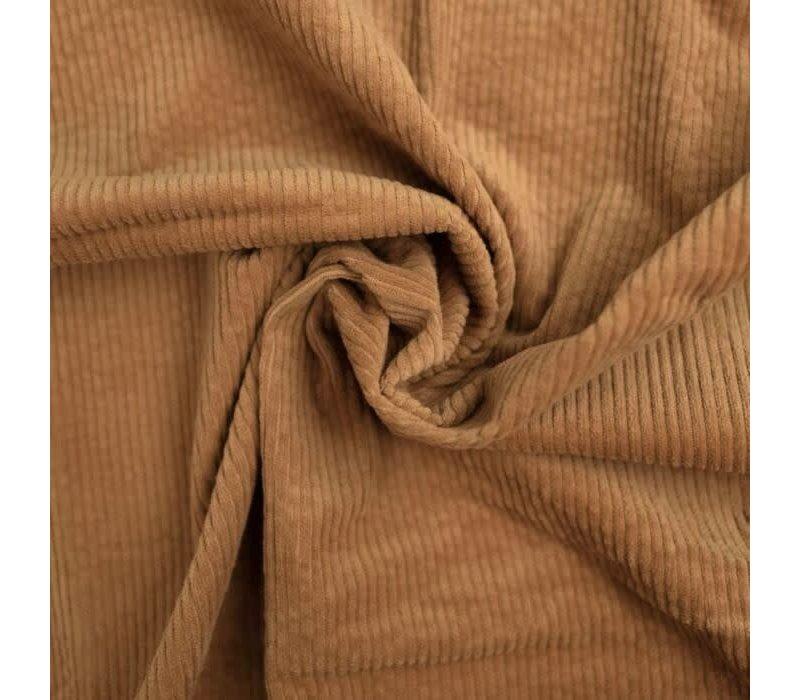 Corduroy brede ribfluweel - beigebruin