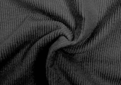 De Stoffenkamer Corduroy brede ribfluweel - black