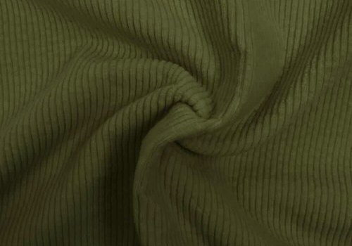 De Stoffenkamer Corduroy brede ribfluweel - Moss