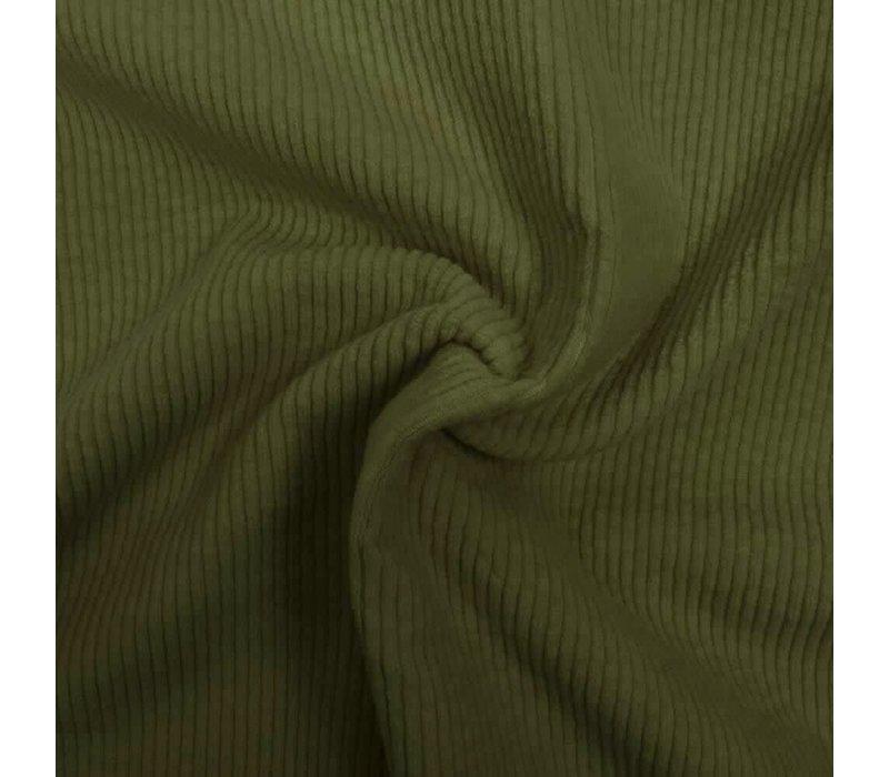 Corduroy brede ribfluweel - Moss