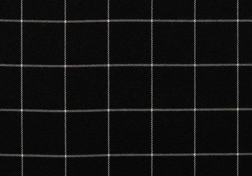 De Stoffenkamer Tartan Checks Flanel - black / white