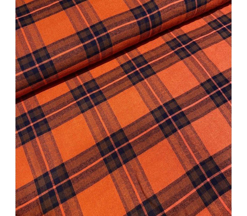 Tartan Checks Flanel - orange / blue