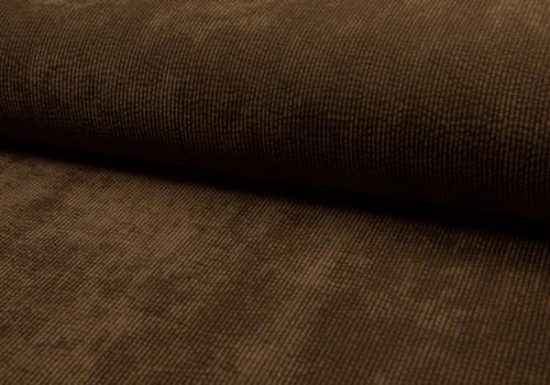De Stoffenkamer Corduroy Rib washed - dark brown