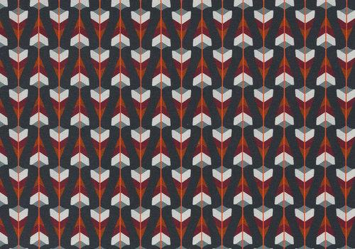 French Terry Fall Arrows dark grey